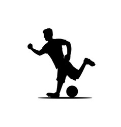 player silhouette vector image