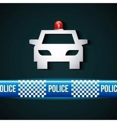 Police line design vector