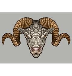 Ram head mascot vector image