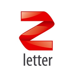 Red abstract logo letter Z vector