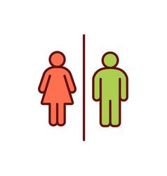 Restroom access rgb color icon vector