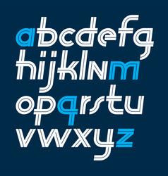 Script trendy lowercase alphabet letters set vector