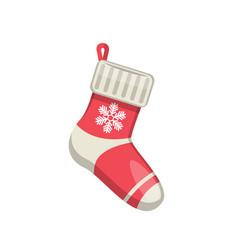 single sock new year vector image