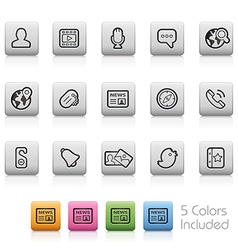 Social Communications Icons vector image