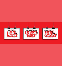 Special sale best choice and best offer tag vector