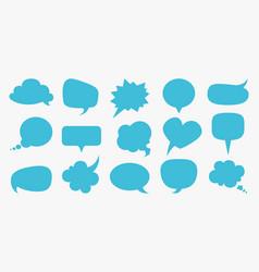 speech bubbles blue blank comment balloons set vector image