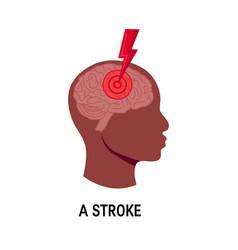 Stroke concept vector