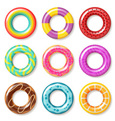 swim rings swimming ring colorful buoy pool kids vector image