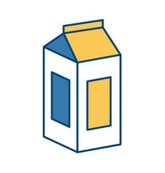 Tetrapak milk box vector
