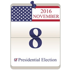 United States presidential election vector image