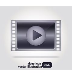 video icon film strip vector image