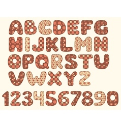 Vintage patchwork alphabet vector