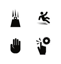 warning attention simple related icons vector image