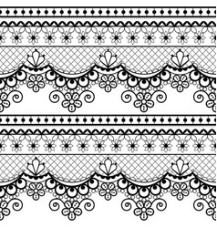 Wedding lace french or english seamless pattern vector