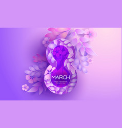 Womens day 8 march greating card abstract vector