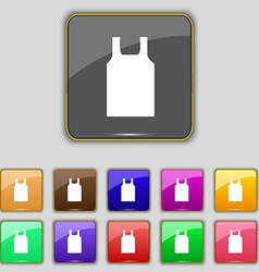 Working vest icon sign Set with eleven colored vector