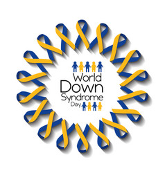 World down syndrome day card awareness health vector
