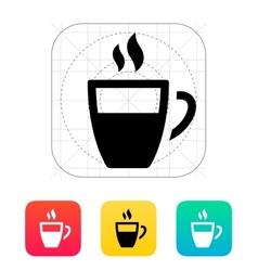 Half coffee cup icon vector image vector image