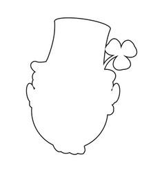 irish elf outline vector image