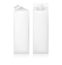 Milk and juice white carton package vector image vector image