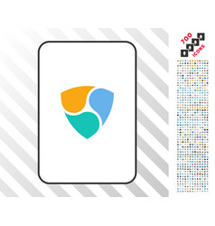 nem card with bonus vector image vector image