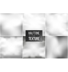 Set of 6 halftone seamless backgrounds vector image vector image