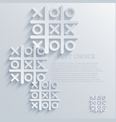 tic tac toe background Eps10 vector image