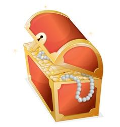 Treasure box vector image