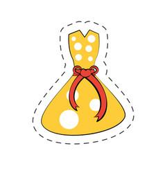 beuty dress cartoon comic vector image