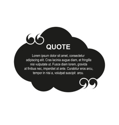 cloud quote vector image