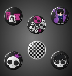 emo badges vector image
