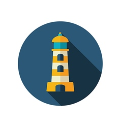 Lighthouse flat icon Summer Vacation vector image