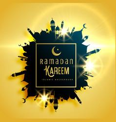beautiful ramadan kareem greeting card design vector image