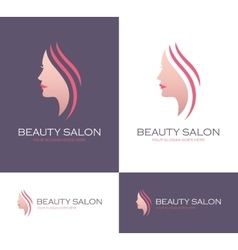 Beauty salon logo vector image