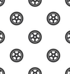 car wheel seamless pattern vector image vector image