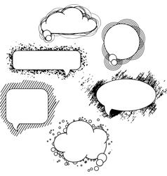 drawn speech bubbles Set vector image vector image