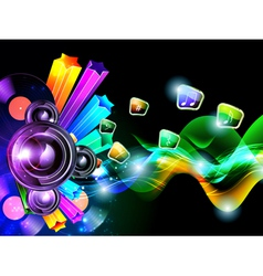 music speacker background vector image vector image