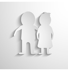 Paper Cut Man and woman vector image