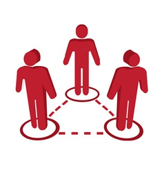People connect icons vector image vector image