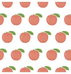 Seamless pattern with peaches vector image vector image