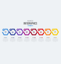 8 steps timeline infographic template with arrows vector image vector image