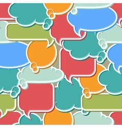 Colorful Speech Bubbles Background vector image vector image