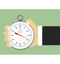 Hand Holding Stopwatch vector image vector image
