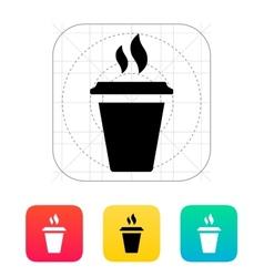 Plastic cup icon vector image vector image