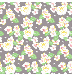 stylised floral colorful vibrant seamless vector image vector image