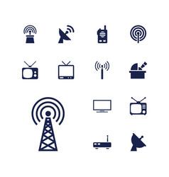 13 antenna icons vector