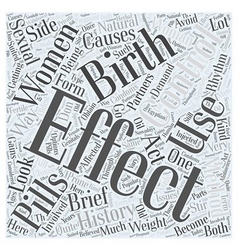 A Brief History of Birth Control Word Cloud vector