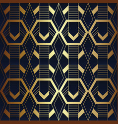 abstract art seamless blue and golden pattern 11 vector image