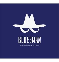 Abstract blues face logo icon concept logotype vector