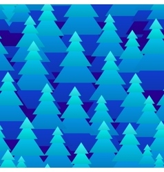 Abstract Christmas trees forest seamless pattern vector image